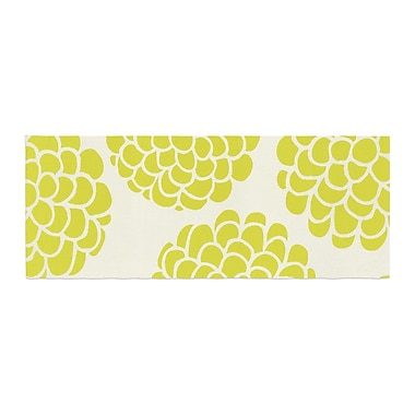 East Urban Home Pom Graphic Design Grape Blossoms Circles Bed Runner