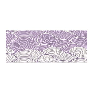 East Urban Home Pom Graphic Design The Seas Waves Bed Runner