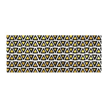 East Urban Home Pom Graphic Design Aztec Triangles Bed Runner