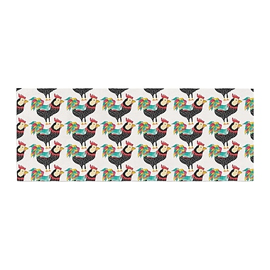 East Urban Home Pom Graphic Design The Rooster Squad Pattern Bed Runner