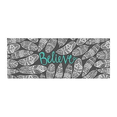 East Urban Home Pom Graphic Design Believe in Yourself Bed Runner