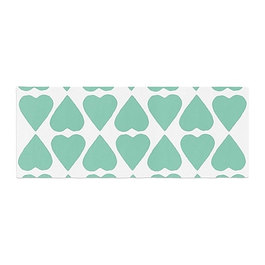 East Urban Home Project M Diamond Hearts Bed Runner