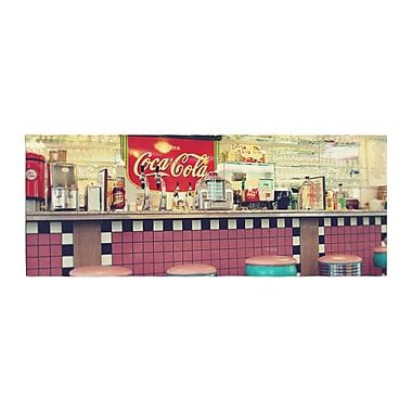 East Urban Home Sylvia Cook Retro Diner Coca Cola Bed Runner