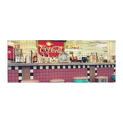 East Urban Home Sylvia Cook Retro Diner Coca Cola Bed Runner