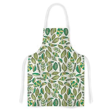 East Urban Home Pom Graphic Design Tropical Botanicals Nature Artistic Apron