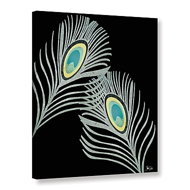 Ebern Designs 'Peacock Feathers' Graphic Art Print on Canvas; 18'' H x 14'' W x 2'' D