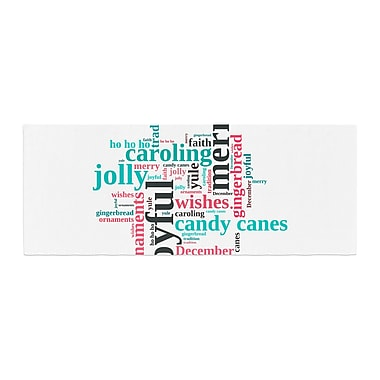 East Urban Home Sylvia Cook Holiday Traditions Christmas Typography Bed Runner