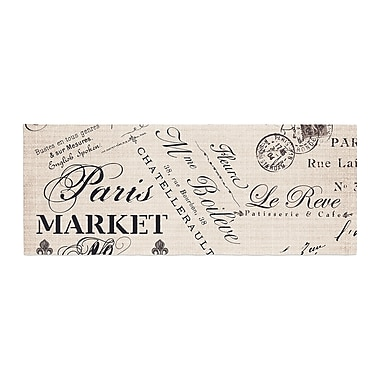 East Urban Home Sylvia Cook French Script Handwriting Bed Runner