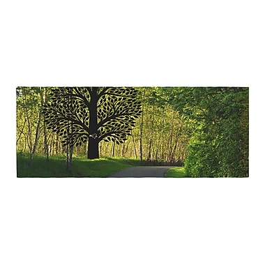 East Urban Home Robin Dickinson Love Nature Forest Bed Runner