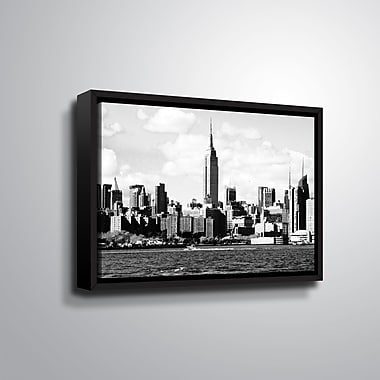 Ebern Designs '1' Framed Photographic Print on Canvas; 24'' H x 36'' W x 2'' D