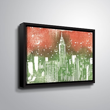 Ebern Designs 'Empire State Building' Framed Graphic Art Print on Canvas; 8'' H x 10'' W x 2'' D