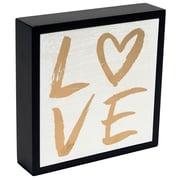 Ebern Designs 'Love Gold Formal' Textual Art on Wood