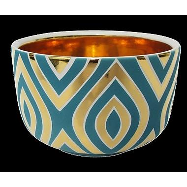 Everly Quinn Leaf Chubby Decorative Bowl