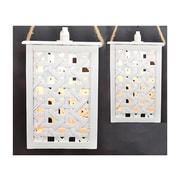 Fantastic Craft 2 Piece Hanging Light Set; Cream