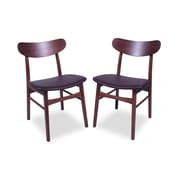 George Oliver Danvers Parsons Chair (Set of 2); PU Leather - Chocolate