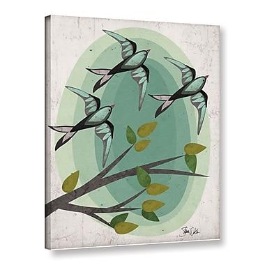 Ebern Designs 'Bird VI' Graphic Art Print on Canvas; 18'' H x 14'' W x 2'' D