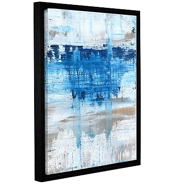 Ebern Designs 'Splash' Framed Print on Canvas; 48'' H x 36'' W x 2'' D