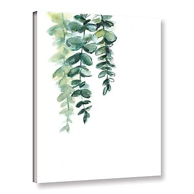 Ebern Designs 'Silver Drop II' Print on Canvas; 10'' H x 8'' W x 2'' D