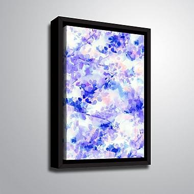 Ebern Designs 'Canopy Purple' Framed Print on Canvas; 32'' H x 24'' W x 2'' D