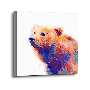 Ebern Designs 'The Protective II' Print on Canvas; 10'' H x 10'' W x 2'' D