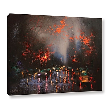 Ebern Designs 'Rainy Day 6' Print on Canvas; 14'' H x 18'' W x 2'' D