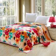 Ebern Designs Chaya Luxurious Oversized Printed Super Soft Plush Flannel Throw