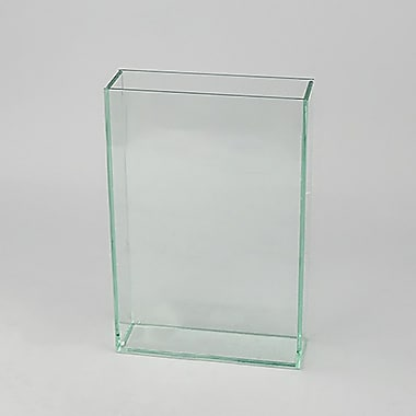 Ebern Designs Indoor Clear-Cut Glass Rectangular Table Vase; Small