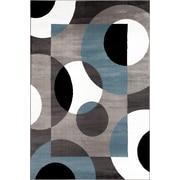 Ebern Designs Allison Geometric Blue Area Rug; 3'3'' x 5'