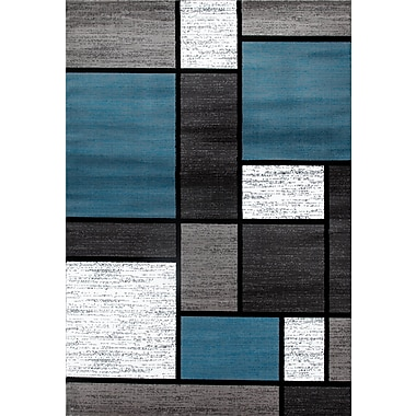 Ebern Designs Allison Blue/Gray Area Rug; 5'3'' x 7'3''