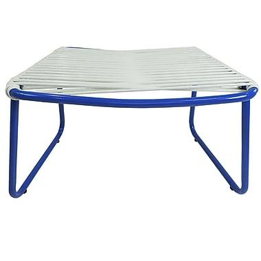 Ebern Designs Andre Jelly Aluminum Ottoman; White/Blue