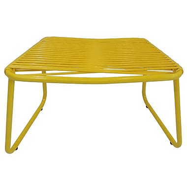 Ebern Designs Andre Jelly Aluminum Ottoman; Yellow