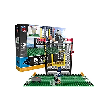 NFL – Ensemble Endzone de 106 blocs de construction, Panthers de Carolina