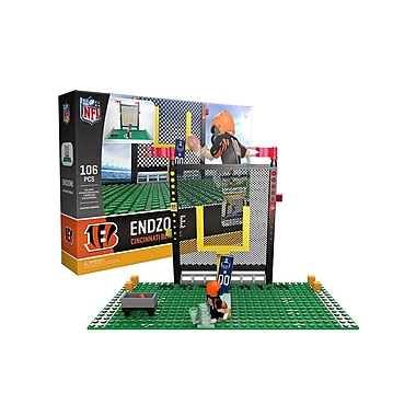 NFL Endzone Set: Cincinnati Bengals 106pc Building Block Set