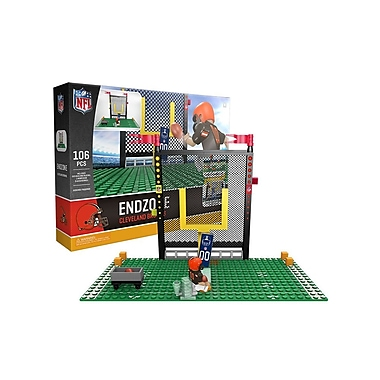 NFL Endzone Set: Cleveland Browns 106pc Building Block Set