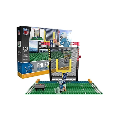 NFL Endzone Set: Detroit Lions 106pc Building Block Set