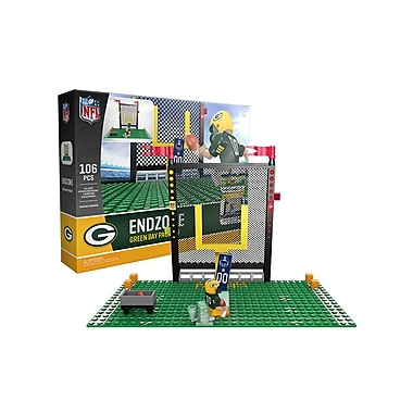 NFL Endzone Set: Green Bay Packers 106pc Building Block Set