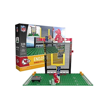 NFL Endzone Set: Kansas City Chiefs 106pc Building Block Set