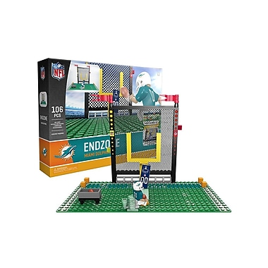 NFL – Ensemble Endzone de 106 blocs de construction, Dolphins de Miami