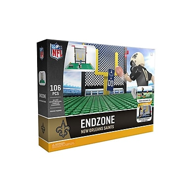 NFL Endzone Set: New Orleans Saints 106pc Building Block Set