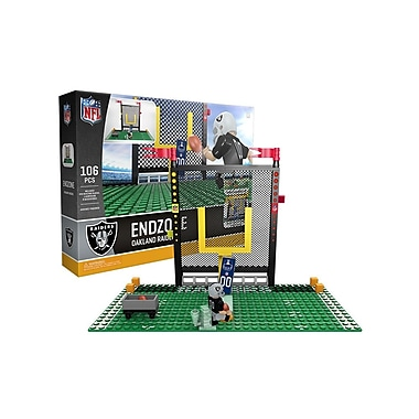 NFL – Ensemble Endzone de 106 blocs de construction, Raiders de Oakland