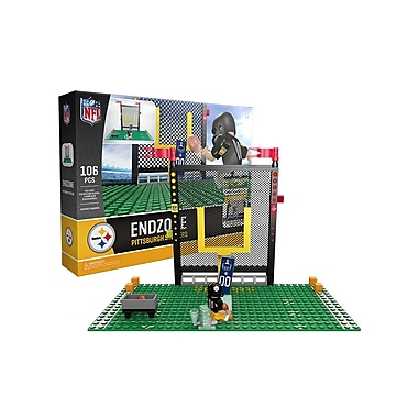NFL – Ensemble Endzone de 106 blocs de construction, Pittsburgh Steelers