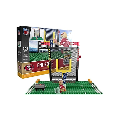 NFL – Ensemble Endzone de 106 blocs de construction, San Francisco 49ers