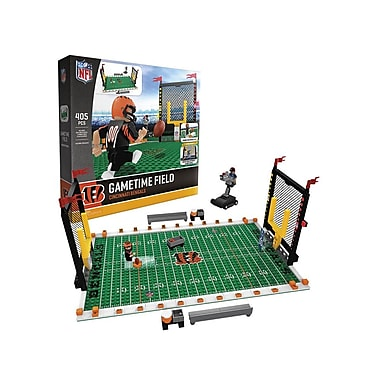 NFL Gametime Field: Cincinnati Bengals 405pc Building Block Set