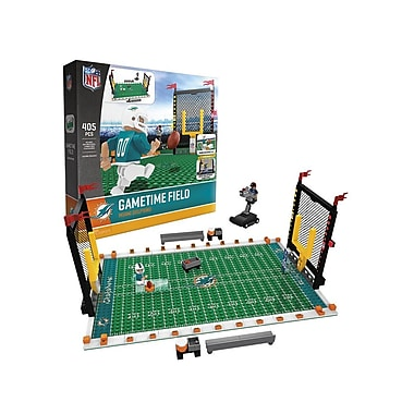 NFL – Ensemble de 405 blocs de construction Gametime Field, Dolphins de Miami