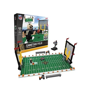 NFL – Ensemble de 405 blocs de construction Gametime Field, Saints de Nouvelle-Orléans