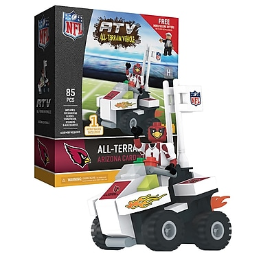 NFL ATV with Mascot: Arizona Cardinals 85pc Building Block Set