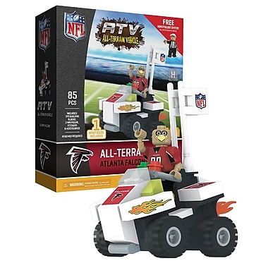 NFL ATV with Mascot: Atlanta Falcons 85pc Building Block Set