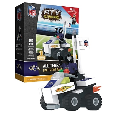 NFL ATV with Mascot: Baltimore Ravens 85pc Building Block Set