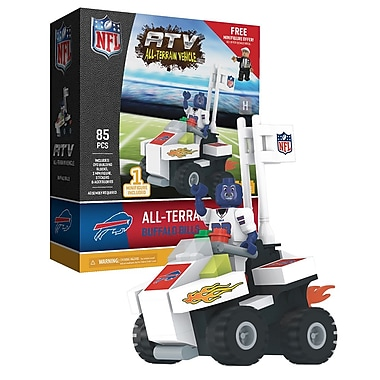NFL ATV with Mascot: Buffalo Bills 85pc Building Block Set