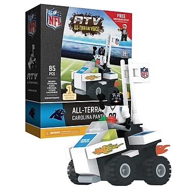 NFL ATV with Mascot: Carolina Panthers 85pc Building Block Set